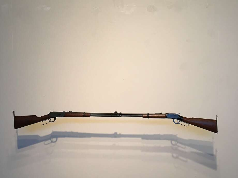 """Paul Kos, """"Gun Contra Gun"""" (1971-2016) Photo: Jules Maeght Gallery"""
