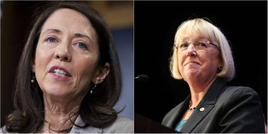 """The """"Gentleladies from Washington"""": Sens. Maria Cantwell (left) and Patty Murray (right), D-Wash., spoke out Thursday against confirming Dr. Ben Carson as Secretary of Housing and Urban Development, and ex-Texas Gov. Rick Perry as Secretary of Energy."""