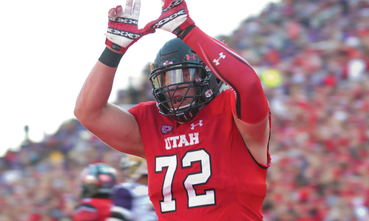 Garett Boles, T, 6-5, 297, 4.95, Utah He'll be a 25-year old rookie. Played one season at Utah and was tremendous at left tackle. Has overcome a difficult up-bringing that included time in jail. Played junior college football before moving to Utah. Got married, had a child and matured. Quick feet, excellent balance. Stays on his feet. Plays with passion. Physical in run blocking and pass protection. Needs to improve technique. Should go in first round.