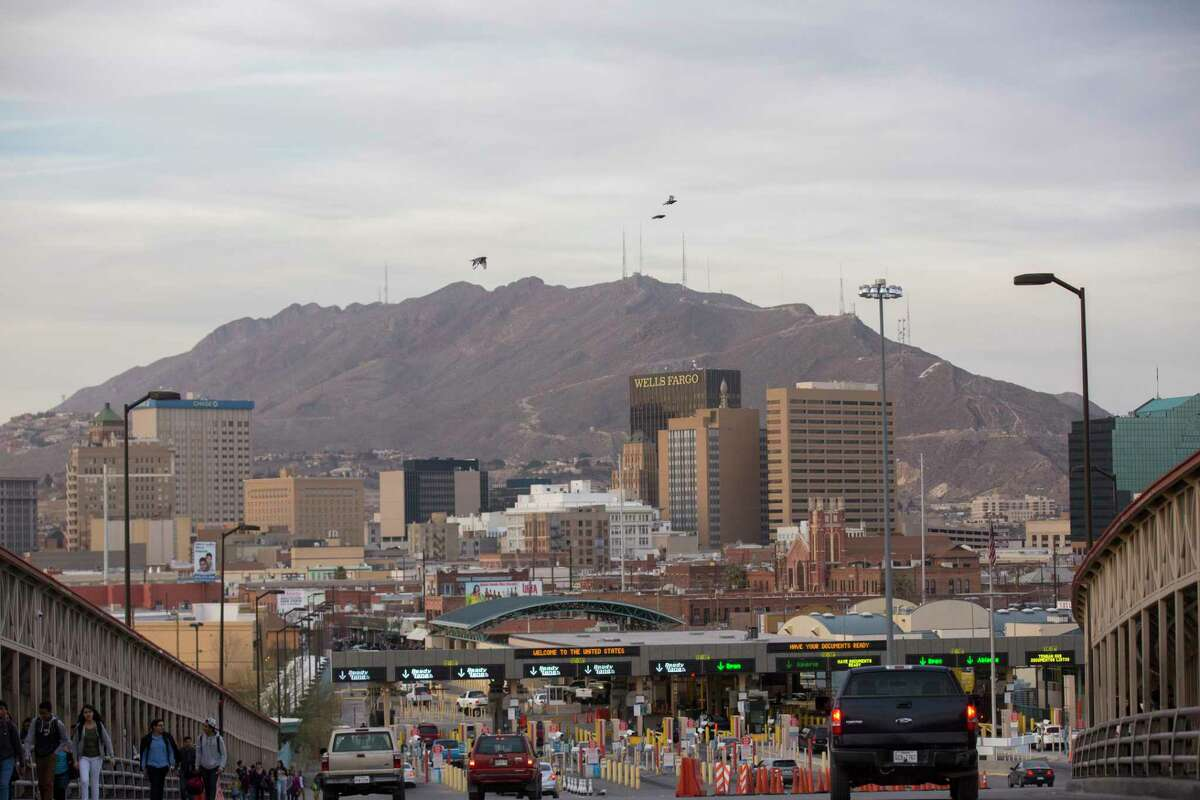 El Paso's downtown, as seen from the top of the Paso del Norte International Bridge. Unfortunately, too few Americans understand that cross-border trade creates jobs, not just in the El Paso region and Texas, but in the rest of the country. Trade with Mexico supports nearly 5 million American jobs. ( Photo by Ivan Pierre Aguirre for The Washington Post.)