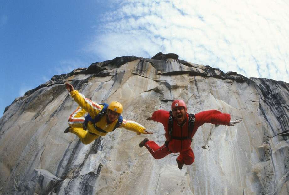 "Jean Boenish, left, and Carl Boenish in ""Sunshine Superman"" documentary about BASE jumpers. Photo: Magnolia Pictures"