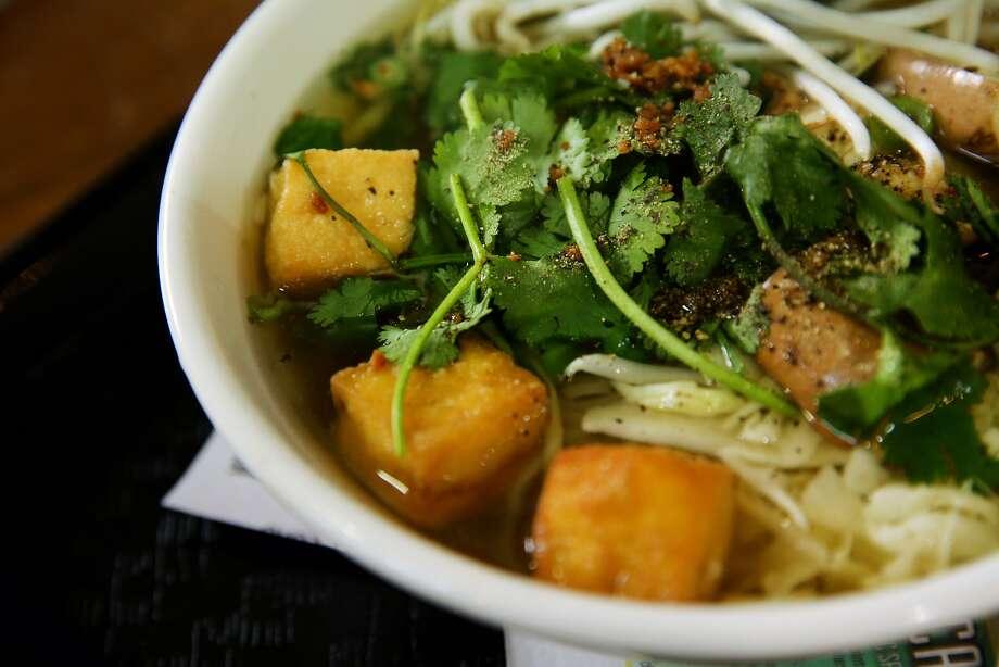 Kuy Teav Ban Lai soup at Nyum Bai on Thursday, March 2, 2017, in Emeryville, Calif. Photo: Santiago Mejia / The Chronicle