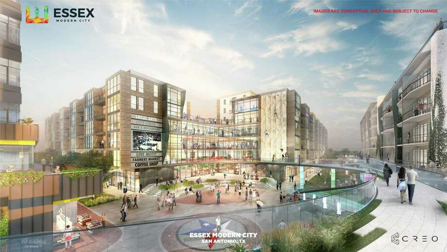 The 8-acre Essex Modern City mixed-use development, in the struggling Denver Heights neighborhood just east of downtown, will include 80,000 square feet of creative office space. Photo: Courtesy Illustration
