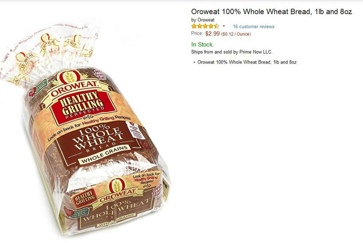 Oroweat whole wheat bread Prime Now: $2.99