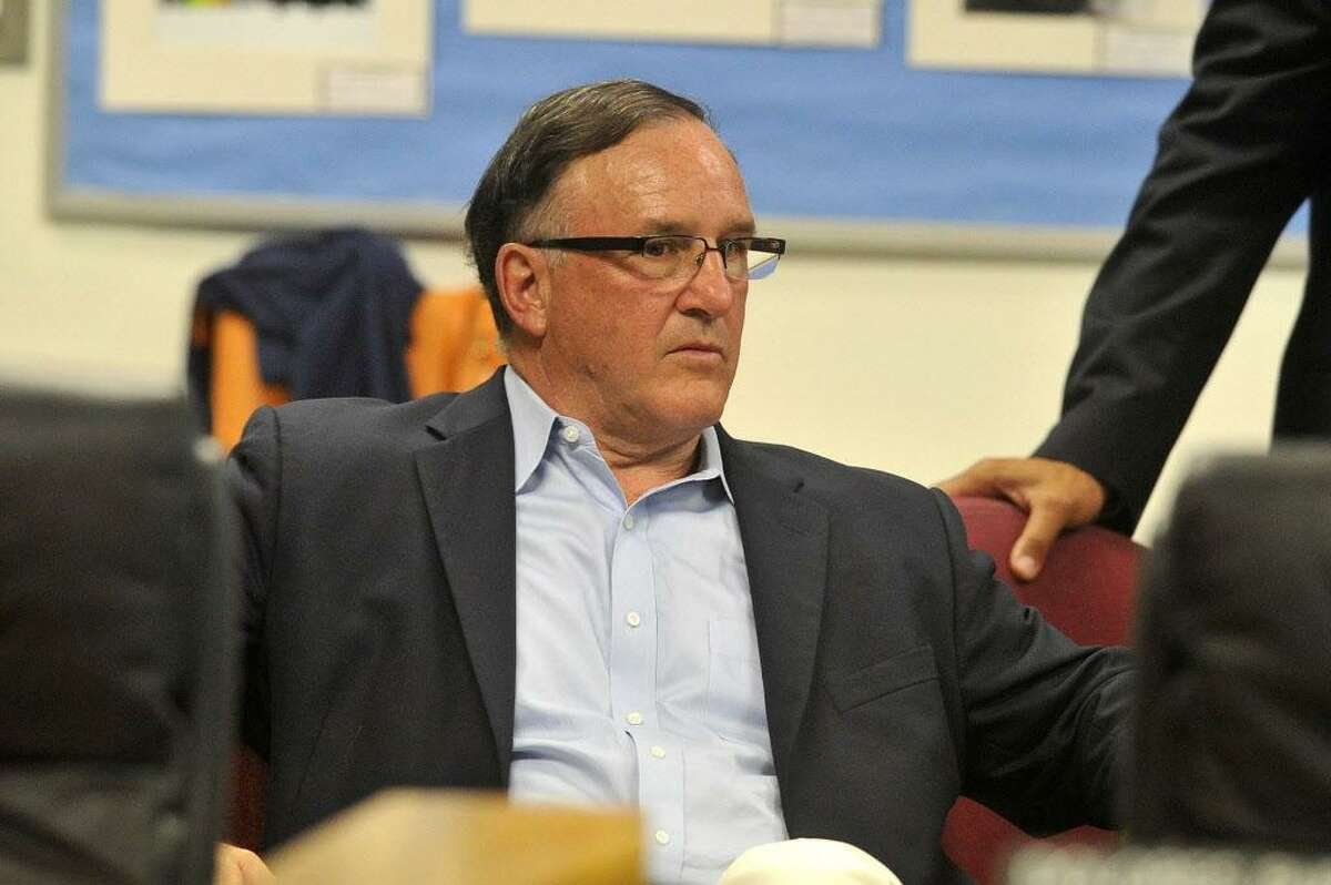 FILE - Al Barbarotta, CEO of AFB Construction Management, attends the Board of Education meeting at the Stamford Government Center in Stamford, Conn., on Tuesday, July 29, 2015.