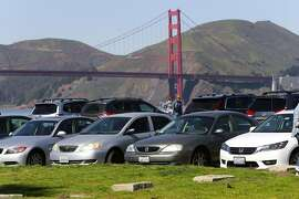 A portion of the east end parking lot will be renovated but still have 400 spaces at Crissy Field in San Francisco, Ca. on Thurs. March 2, 2017. Major renovations to the park are about ready to begin.