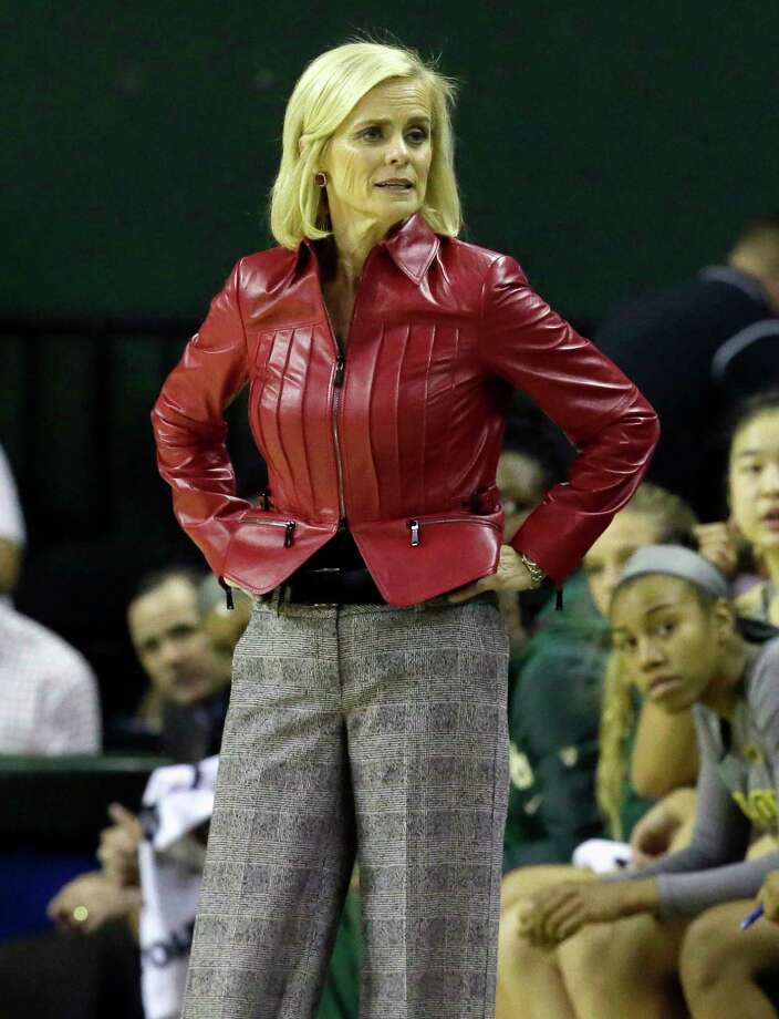 Baylor head coach Kim Mulkey stands on the side lines during the first half of an NCAA college basketball game against Texas in Waco on Monday, Feb. 6, 2017. (AP Photo/LM Otero) Photo: LM Otero, STF / Copyright 2017 The Associated Press. All rights reserved.