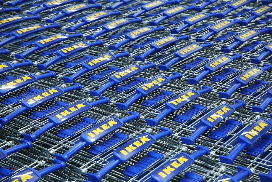 FILE-- Shopping carts are lined up inside the new IKEA store in Renton as it opens to the public for the first time, Feb. 22, 2017.  Photo: GENNA MARTIN, GENNA MARTIN, SEATTLEPI.COM