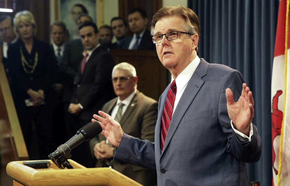"""Lt. Gov. Dan Patrick slammed a study projecting the state would lose up to $8.5 billion in economic activity should lawmakers approve Senate Bill 6, which would bar transgender Texans from using restrooms corresponding with their gender identity in public buildings, after PolitiFact Texas gave the study a """"mostly false"""" rating."""