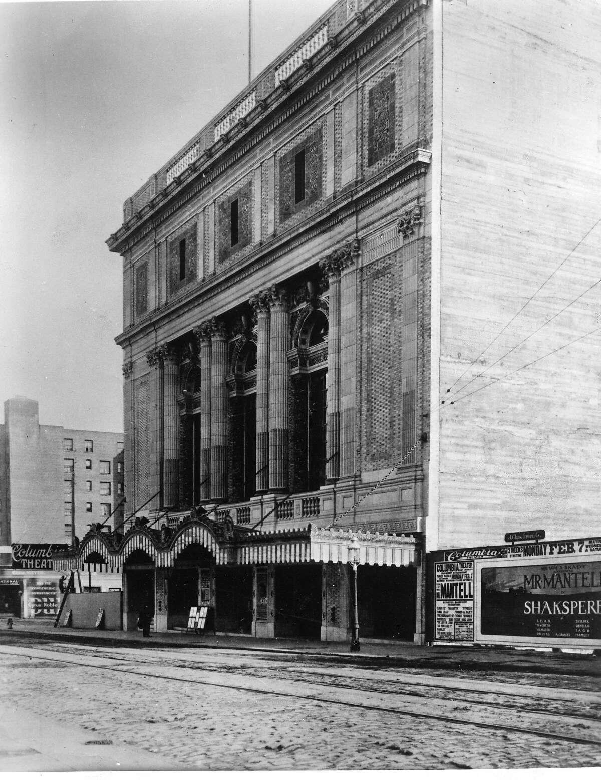 The Geary Theater circa 1910 Handout Photo ran 12/31/1995, Sunday Datebook p. 26