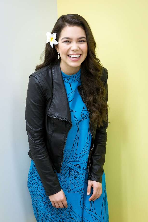 """Auli'i Cravalho stands for a portrait following an interview at the San Francisco Chronicle on Thursday, March 2, 2017, in San Francisco, Calif. Cravalho, age 16, is the voice of Moana in the Disney animated musical, """"Moana."""" Photo: Santiago Mejia, The Chronicle"""