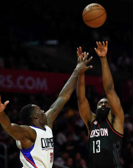 Rockets guard James Harden hits 35.1 percent of his 3-point tries and averages 28.8 points per game. Photo: Kelvin Kuo, FRE / FR170752 AP