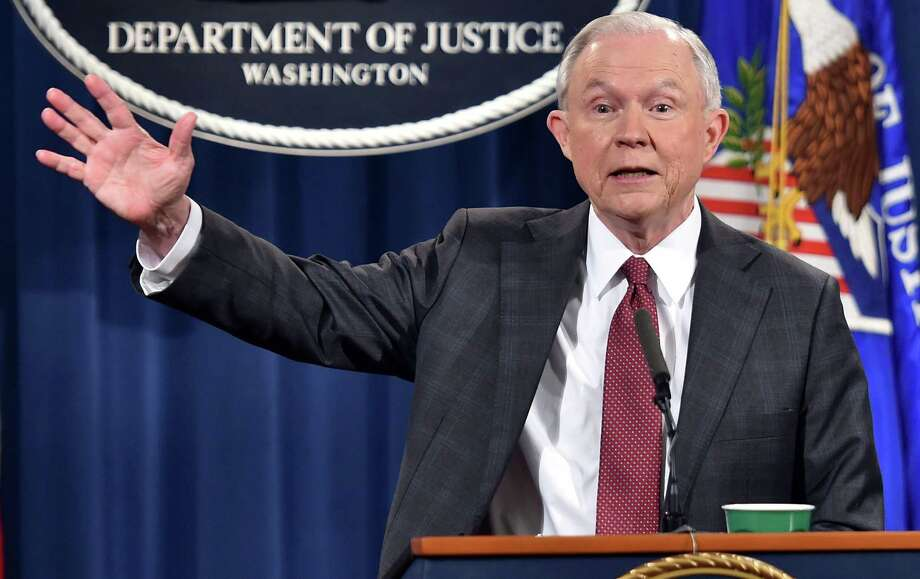 Attorney General Jeff Sessions' decision appeared to calm Republicans but didn't quell Democrats' demands that he resign. Photo: NICHOLAS KAMM / AFP /Getty Images / AFP or licensors