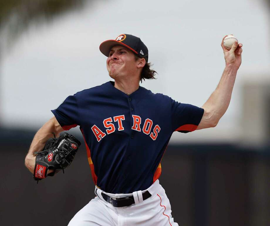 A November waiver claim, Astros pitcher Ashur Tolliver has averaged a mere 412⁄3 innings in his seven professional seasons. Photo: Karen Warren, Staff Photographer / 2017 Houston Chronicle