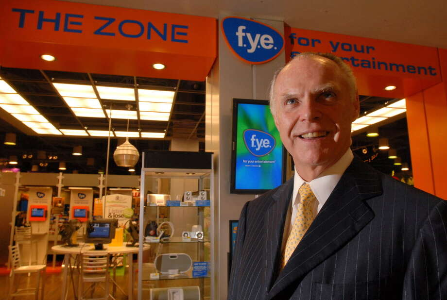 Robert Higgins, founder; chairman of the board, chief executive and principal shareholder, Trans World Entertainment Corp., stands in front of the Digital Zone part of FYE in Colonie Center on Aug. 8, 2006, Colonie, N.Y.  (Lori Van Buren/Times Union) Photo: LORI VAN BUREN / ALBANY