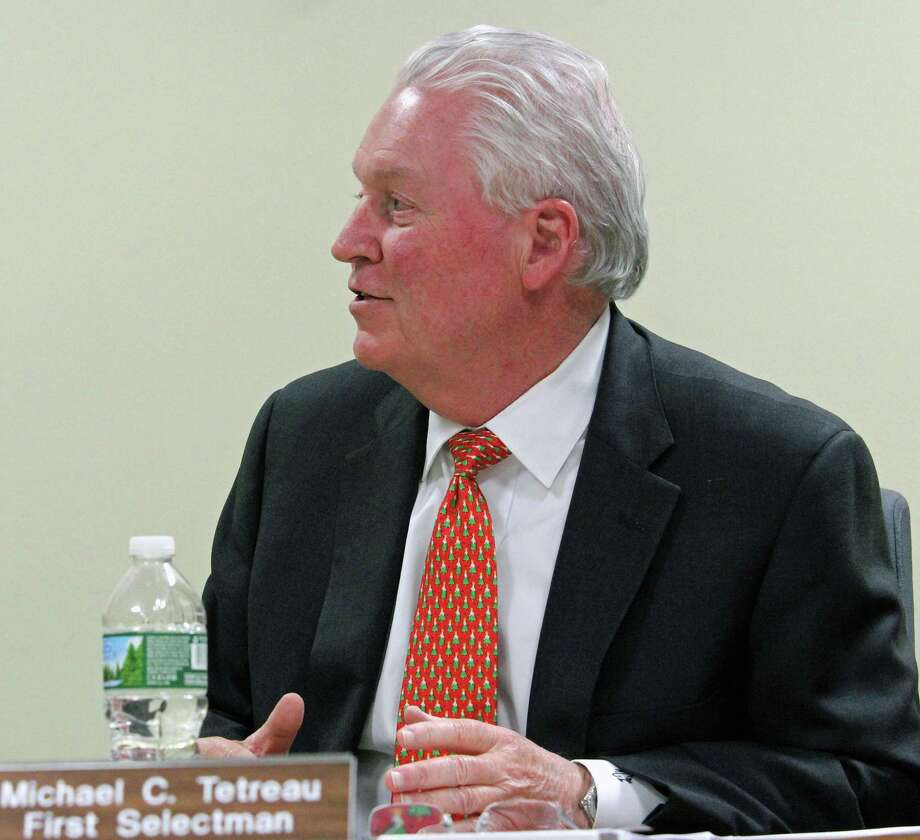 First Selectman Mike Tetreau said a proposed tax increase of over 4 percent is due, in large part, to the governor's budget proposal that calls for the town to make a $9.2 million payment into the state's teacher pension fund. Fairfield, CT. 2/27/17 Photo: Genevieve Reilly / Hearst Connecticut Media / Fairfield Citizen