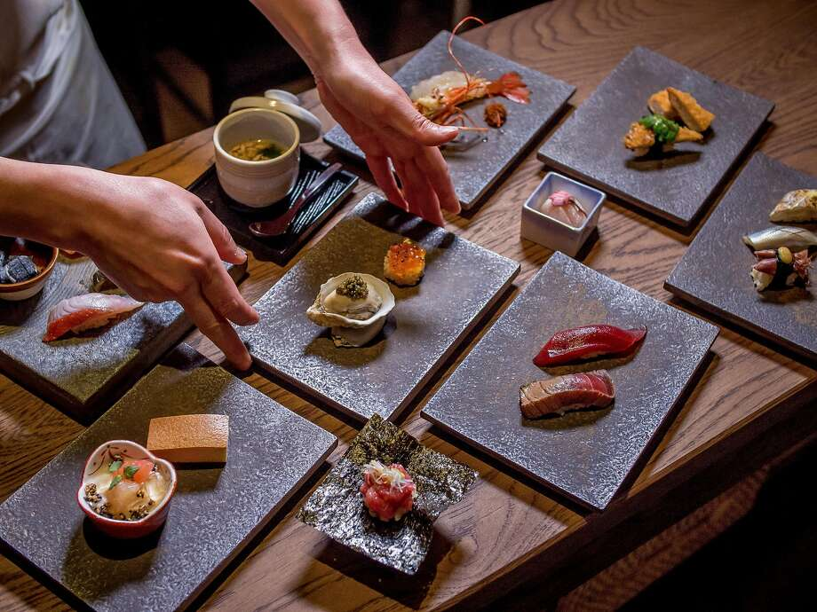 At Kinjo in S.F.: Omakase plates are prepared. Photo: John Storey, Special To The Chronicle