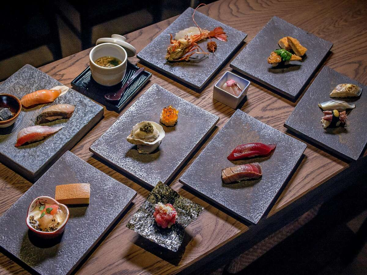 The Omakase plates at Kinjo in San Francisco, Calif. are seen on March 2nd, 2017.