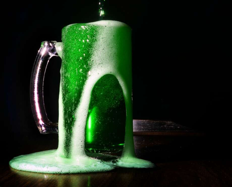 Green beer, green margs and other Irish-inspired drink specials are among the ways San Antonio bars are celebrating St. Patrick's Day. Keep clicking to see the celebrations going on Friday and Saturday in the Alamo City. Photo: Guiseppe Barranco, Guiseppe Barranco/The Enterprise