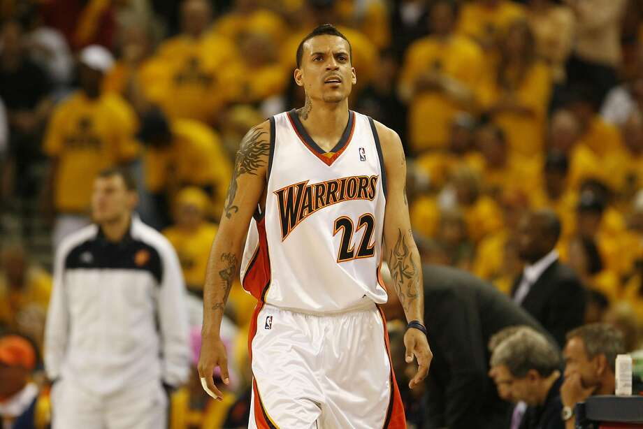 Matt Barnes reacts after being charged with a foul during the Western Conference semi-finals at Oracle Arena in May 2007. Photo: Kat Wade, SFC