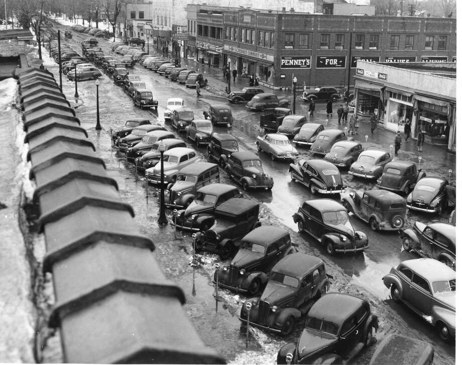 Downtown Midland, J.C. Penney's, upper right, north corner of Ashman and Main. Unknown date. Photo: Daily News File Photos