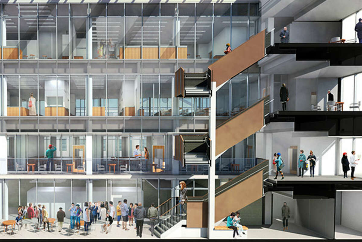 A rendering of Union College's proposed $100 million Science and Engineering Center expansionand renovation. (Provided image)