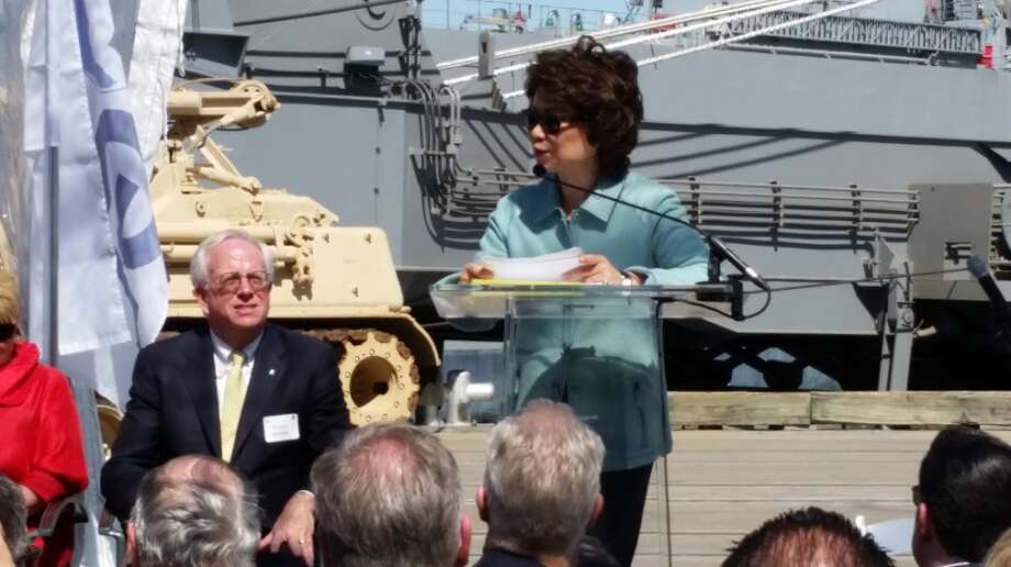 On Friday, U.S. Transportation Secretary Elaine Chaovisited the Port of Beaumont. Chao took part in a naming ceremony for the Liberty Passion, the third ship owned by Liberty Global. Photo: Guiseppe Barranco