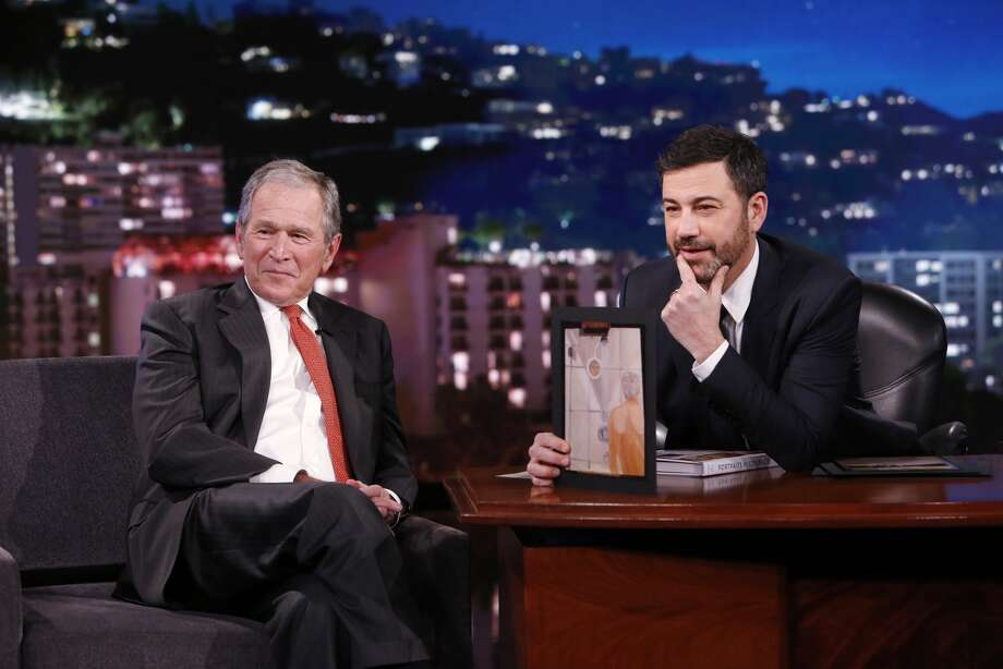 PHOTOS: George W. Bush's veterans paintings go on displayGeorge W. Bush appeared on the Jimmy Kimmel show Thursday, March 2, 2017 to help promote his new book of artwork.Click through to see Bush's paintings on display at his official library and museum in Dallas...
