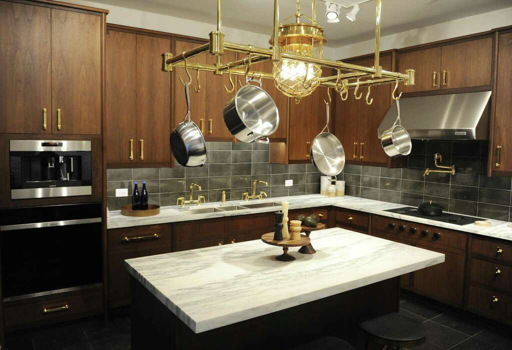Cabinets And Kitchenware Are Displayed In The New 1,200 Sq. Ft. Expansion  Of The