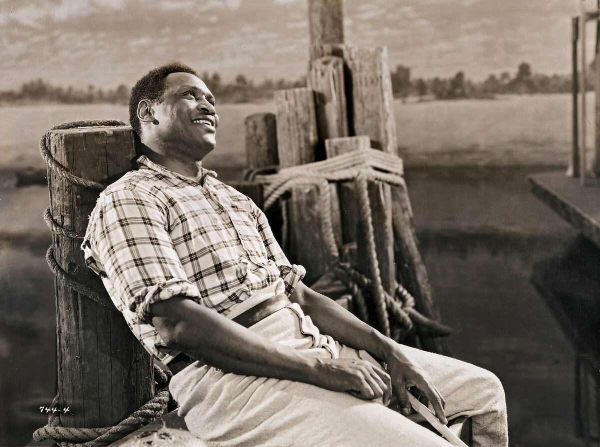 Publicity still portrait of American singer and actor Paul Robeson in director James Whale's Mississippi River musical 'Show Boat' (Universal Pictures), 1936. (Photo by John D. Kisch/Separate Cinema Archive/Getty Images)
