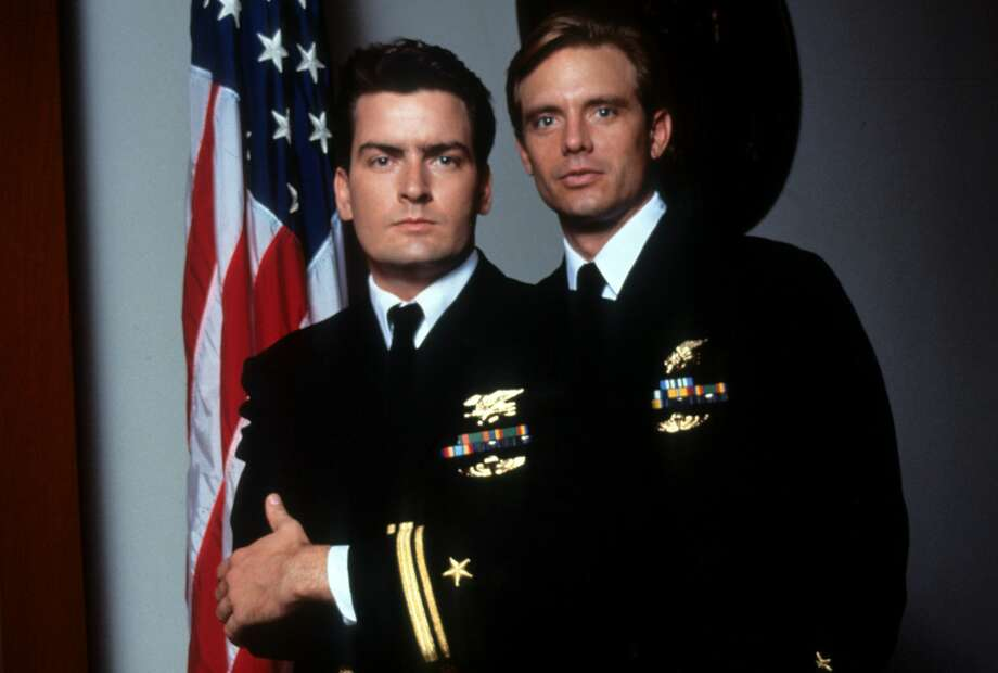 Charlie Sheen and Michael Biehn in publicity portrait for the film 'Navy Seals', 1990. (Photo by Orion/Getty Images) Photo: Archive Photos/Getty Images