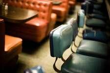 Interior of old diner
