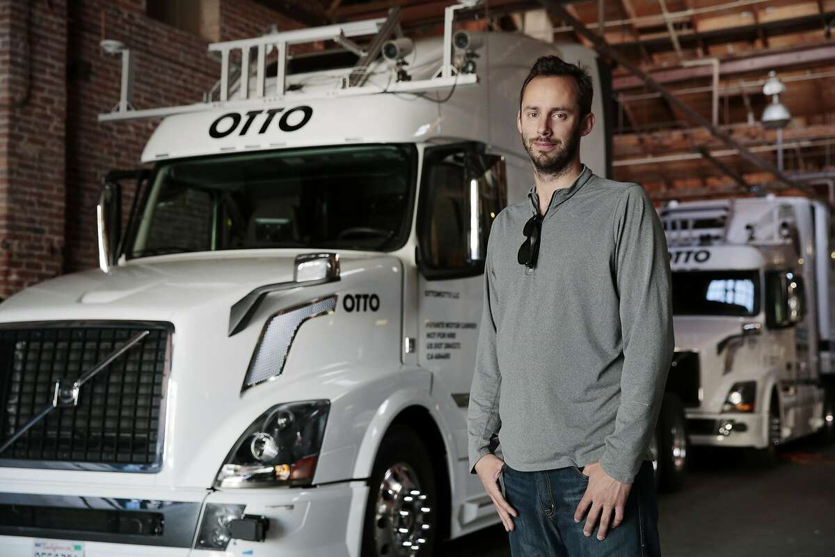 FILE � Anthony Levandowski, a former Google engineer and co-founde of the self-driving truck company Otto, in San Francisco, May 16, 2016. Levandowski is now vice president of Uber�s self-driving car project and at the center of a lawsuit alleging the theft of trade secrets brought against Uber by Waymo, an autonomous car business owned by Google�s corporate parent. (Ramin Rahimian/The New York Times)