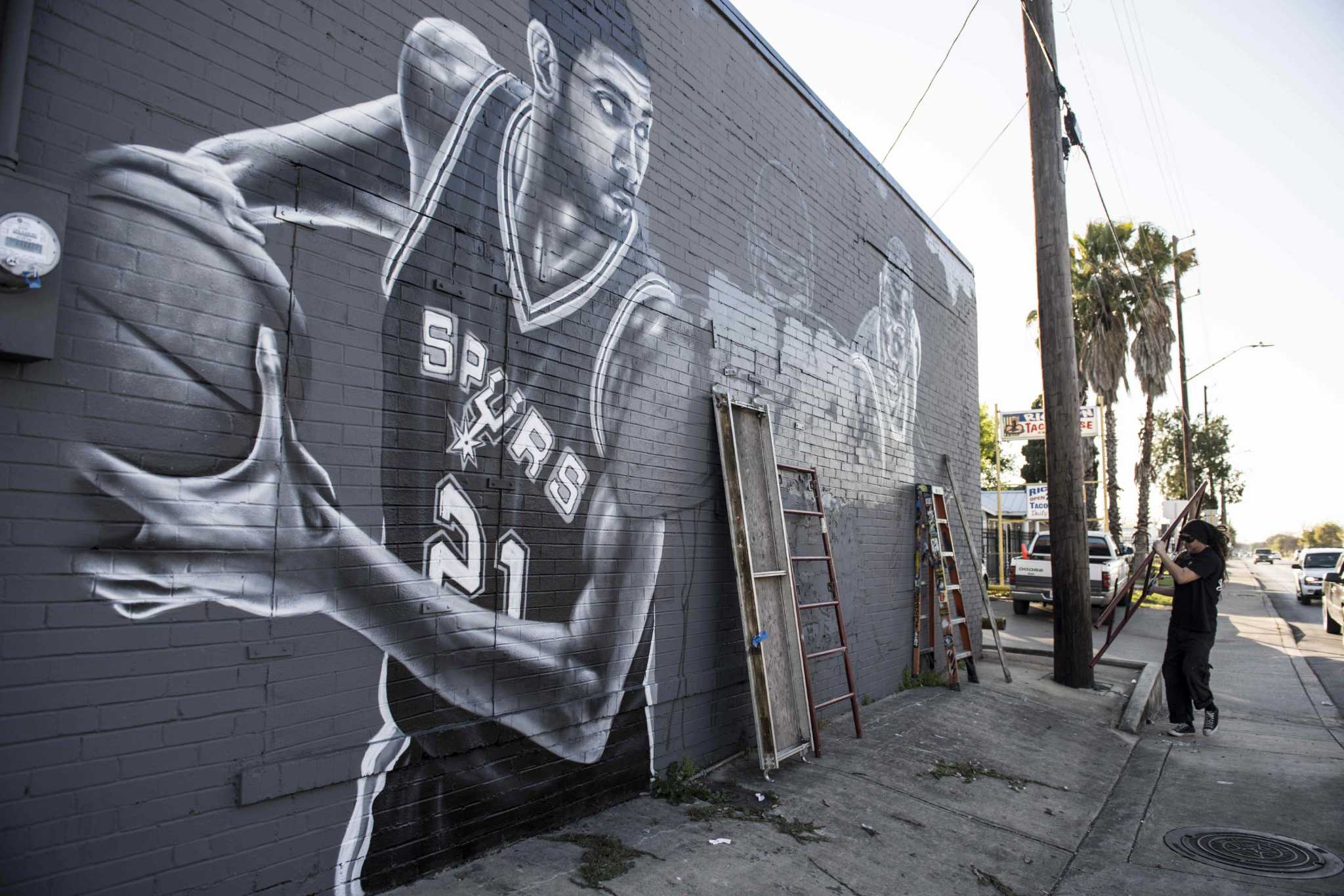 spurs graffiti murals a hit on south side expressnews com