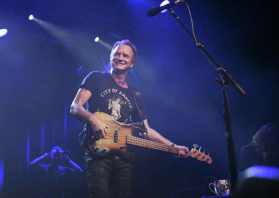 Sting will perform at Mohegan Sun Arena on Thursday, March 9. He is seen here at the Commodore Ballroom in Vancouver, on Feb. 1, 2017. Photo: Rebecca Blissett / Contributed Photo / @ Rebecca Blissett Photography