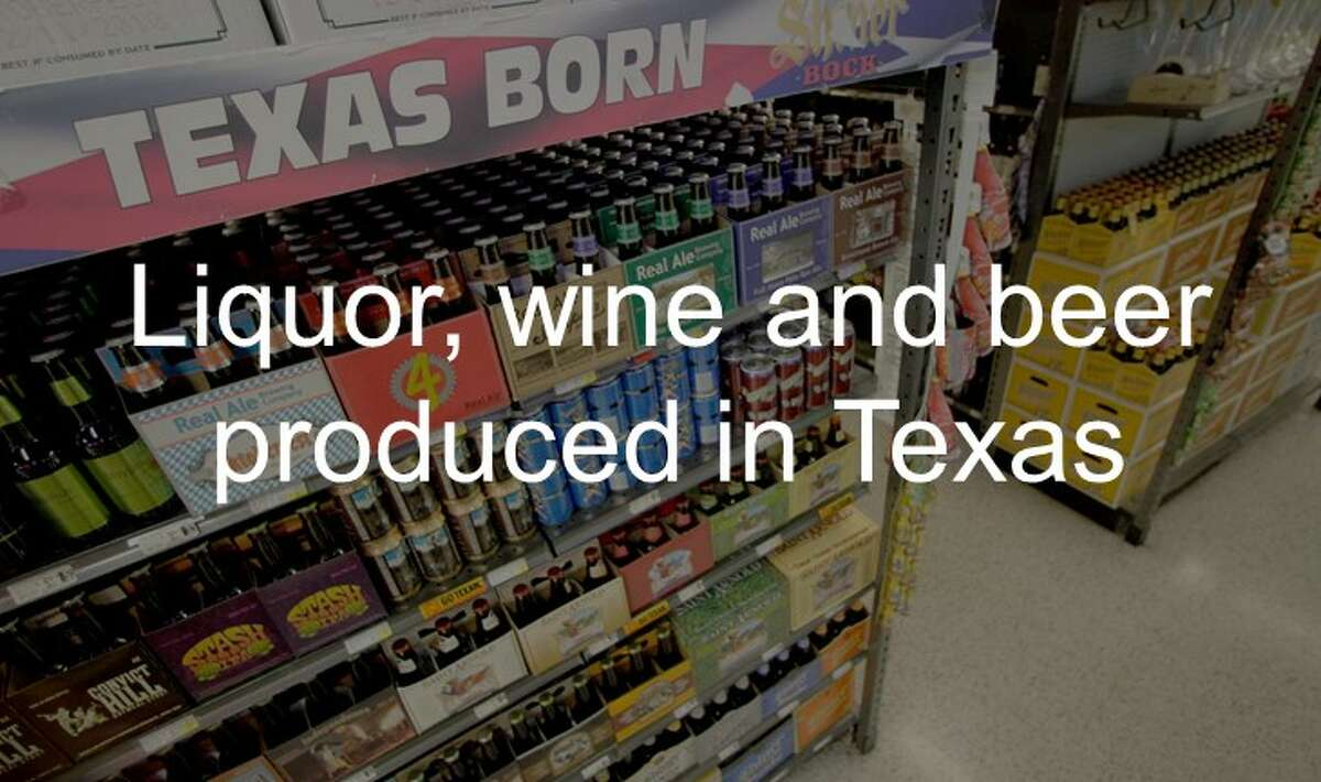 Liquor, wine and beer produced in Texas
