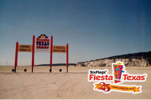 "Fiesta Texas provided a look back at what the park looked like in 1990, ""when the ground was broken and the plans were drawn"" via Facebook on Thursday."