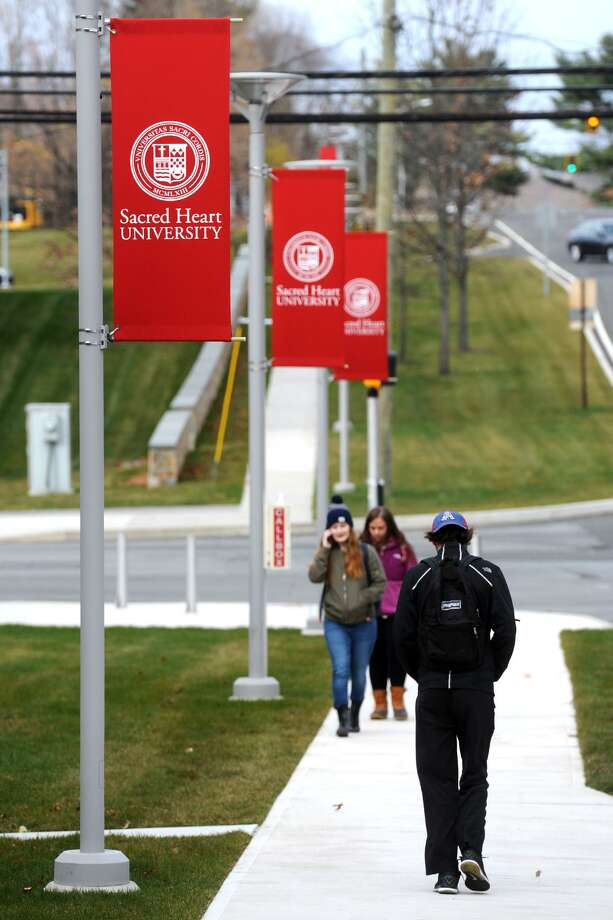 The Sacred Heart University campus in Fairfield. Under a proposal in the General Assembly, college graduates who stay in state could receive income tax credits for up to five years. Photo: Ned Gerard / Hearst Connecticut Media / Connecticut Post