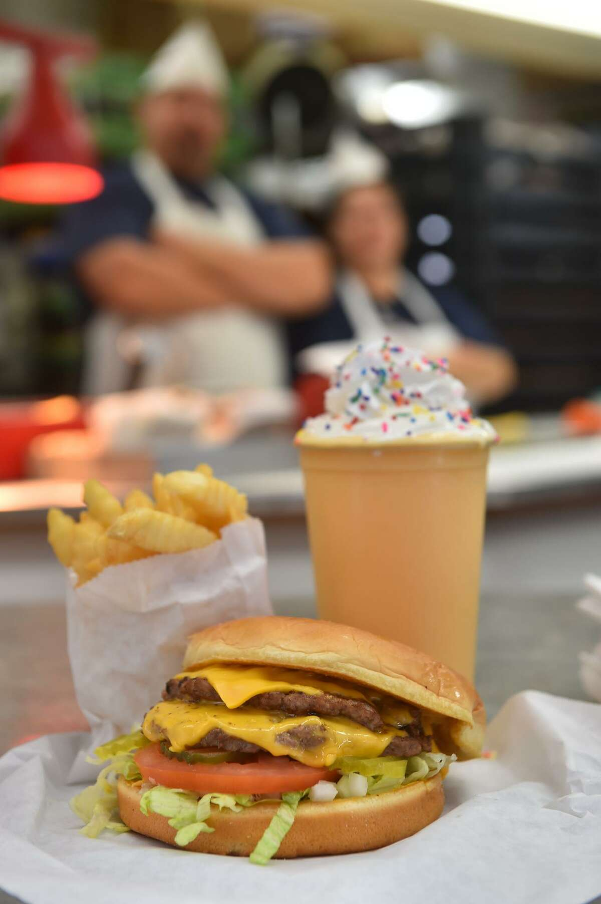 Burger, fries and a shake from Burger Boy.