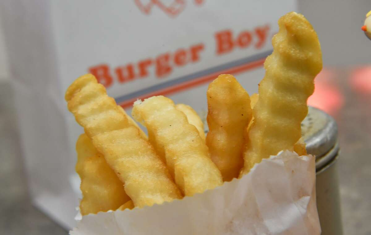 Crinkle-cut fries are a tradition at the Burger Boy restaurant at 2323 N. St. Mary's St.