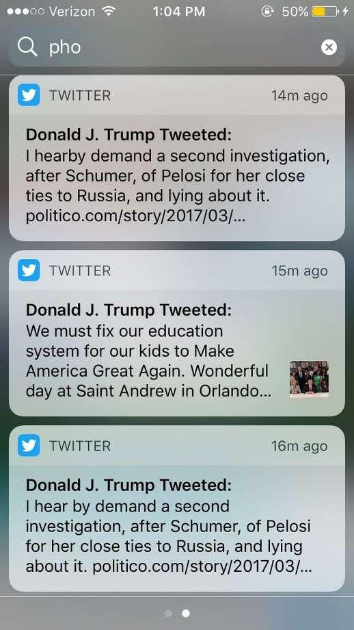 President Trump took three tries to spell 'hereby' correctly in a series of Friday Tweets. Photo: @realDonaldTrump / @realDonaldTrump