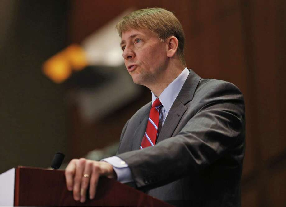 Consumer Financial Protection Bureau Director, Richard Cordray speaks in Richmond, Va. last year. His agency is being targeted in Congress, a case of the financial sector having the ear of our elected officials. Photo: Steve Helber /Associated Press / Copyright 2016 The Associated Press. All rights reserved. This material may not be published, broadcast, rewritten or redistribu