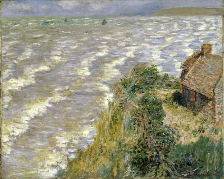 """""""Rising Tide at Pourville,"""" a painting by Claude Monet from 1882, is one of the works in """"French Moderns: Monet to Matisse, 1850-1950,"""" an exhibit on view at the McNay Art Museum."""