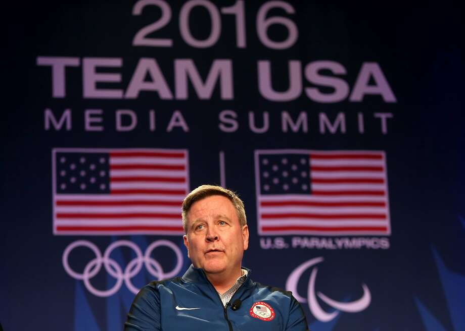USOC CEO Scott Blackmun addresses the media at the USOC Olympic Meida Summit. Photo: Maxx Wolfson, Getty Images For The USOC