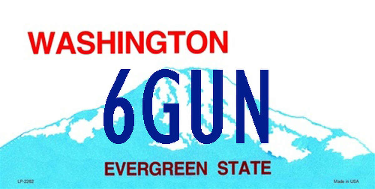Rejected vanity plates in Washington: 6GUN: The DOL wrote this applicant that they do not allow gun references on license plates.