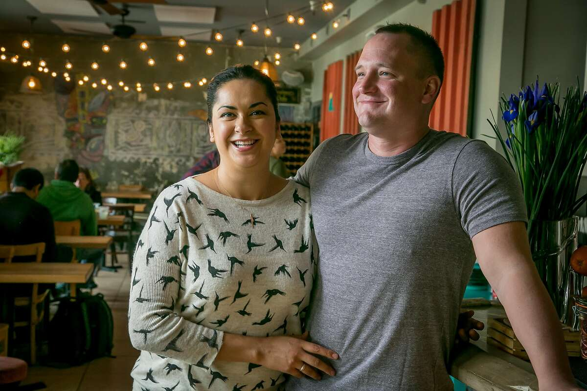 Owners Silvia and Cory McCollow of Nido in Oakland, Calif. are seen on March 3rd, 2017.