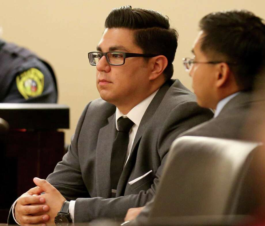 Former San Antonio police officers Alejandro Chapa, 29, (left) and Emmanuel Galindo, 31, were found guilty on multiple counts of sexual assault, compelling prostitution and official oppression Friday March 3, 2017 in the 187th State District Court. Photo: Edward A. Ornelas, Staff / San Antonio Express-News / © 2017 San Antonio Express-News
