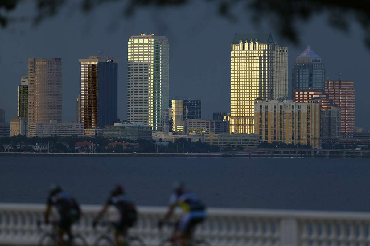 TAMPA, FL - JULY 12: The city of Tampa's downtown skyline is seen on July 12, 2012 in Tampa, Florida.