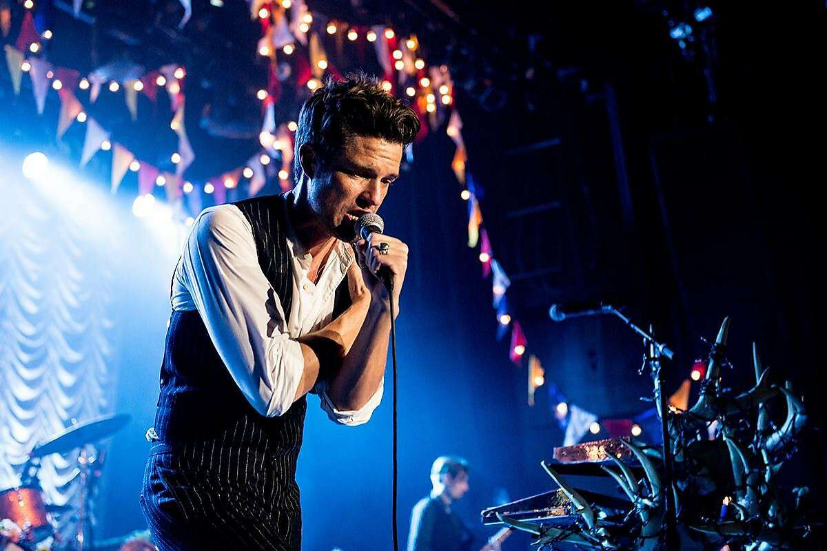 Brandon Flowers of The Killers performs on October 1, 2016 in Las Vegas.