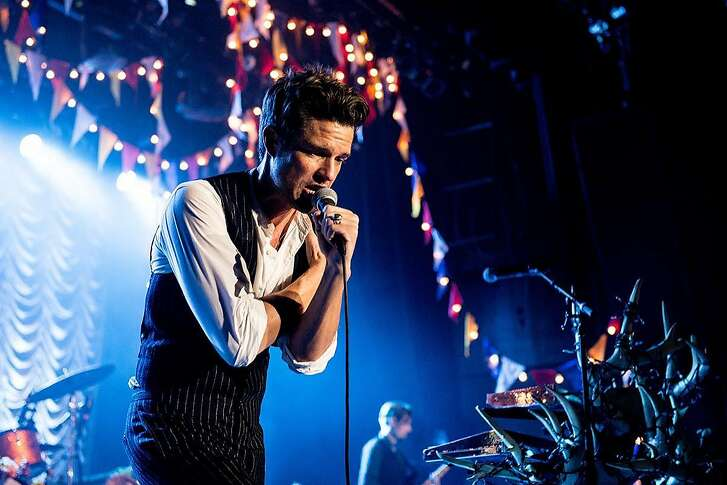 LAS VEGAS, NV - OCTOBER 01: Brandon Flowers of The Killers performs at The Killers' Sam's Town Decennial Extravaganza at Sam's Town Hotel & Gambling Hall on October 1, 2016 in Las Vegas, Nevad (Photo by Rob Loud/WireImage)